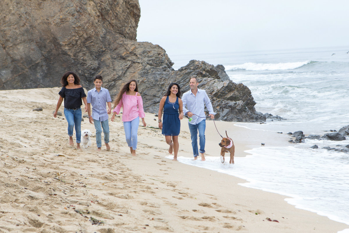 Family Photoshoot Beach Half Moon Bay