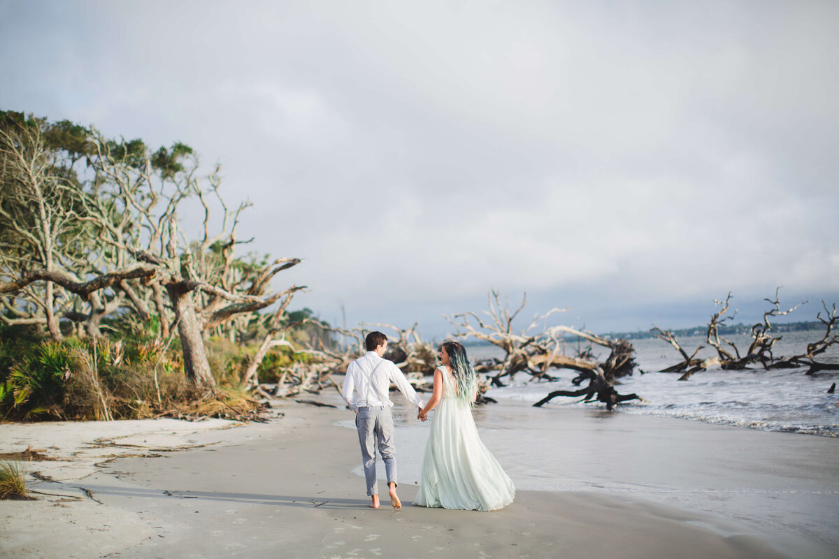 Driftwood Beach couples portrait and engagement session