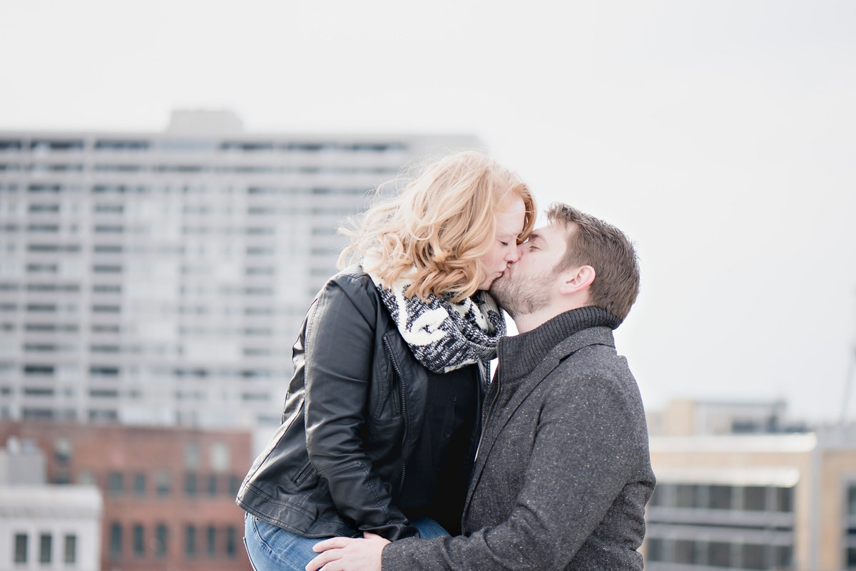 urban downtown detroit winter engagement-1