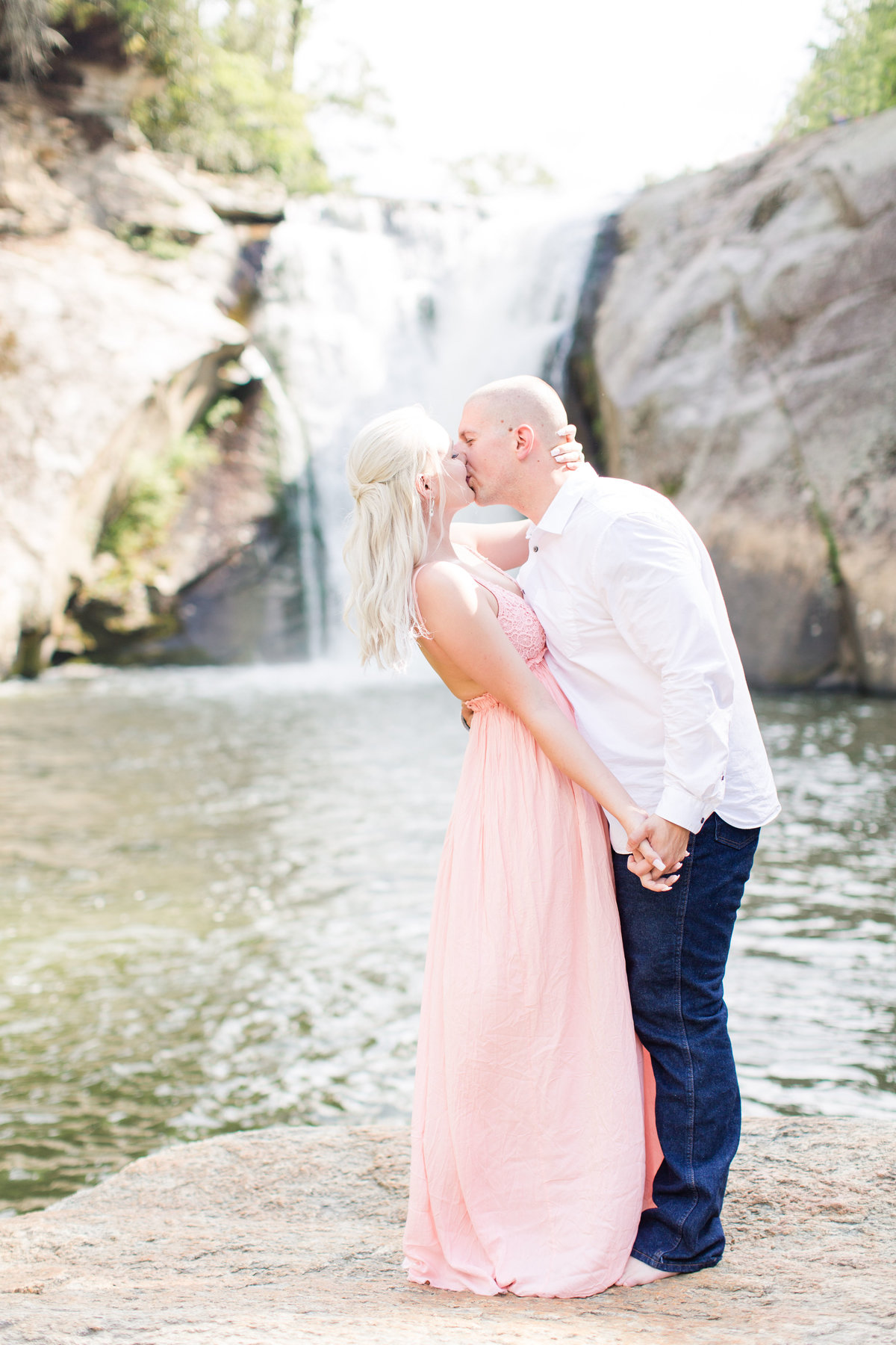 North Carolina Waterfall Engagement Session