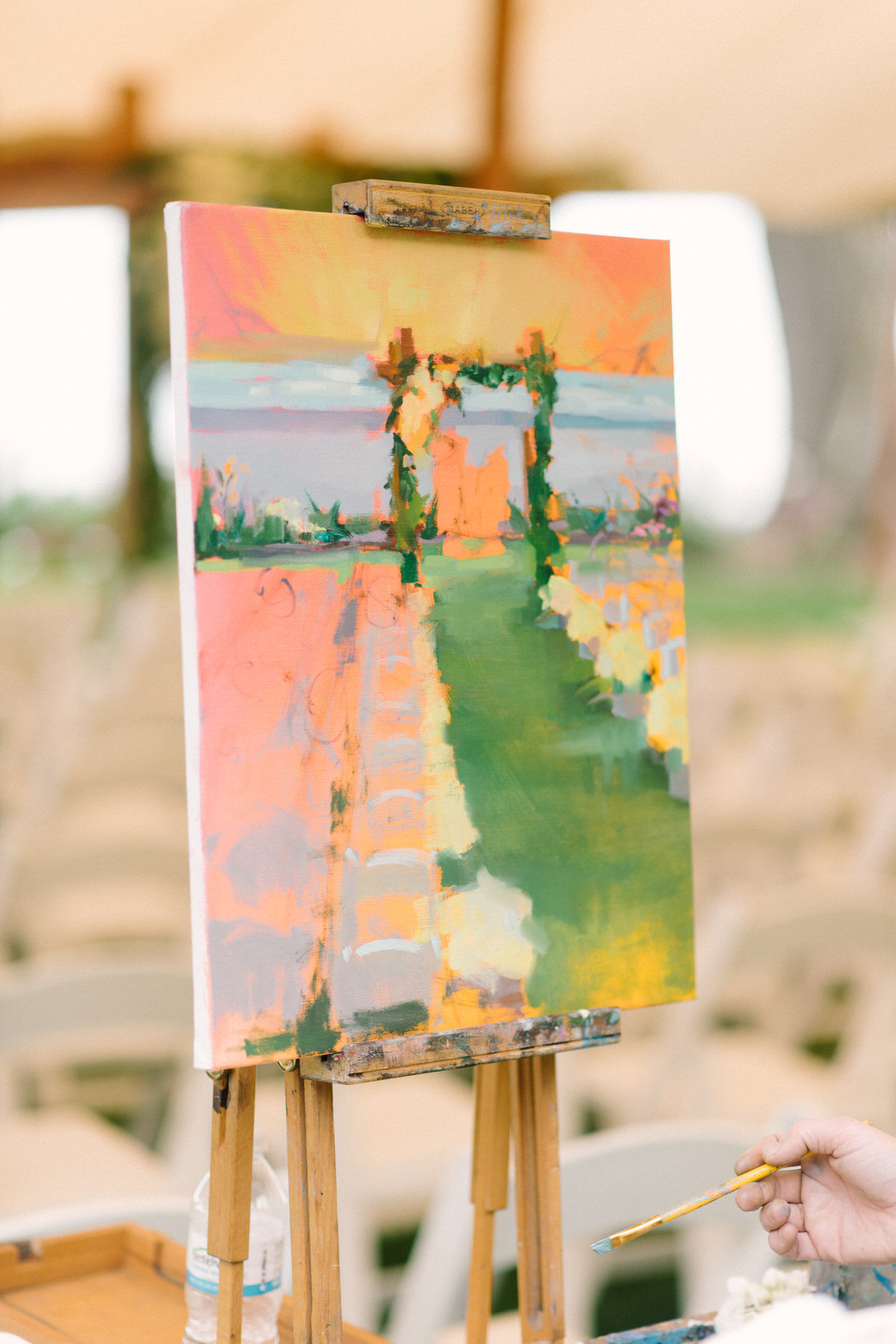 wedding painting, custom ceremony painting
