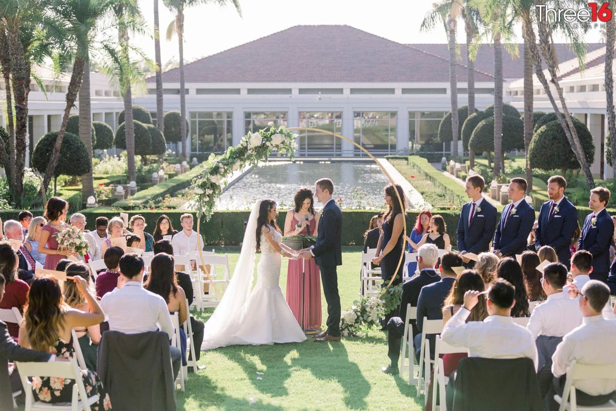 Wedding Ceremony at the Richard Nixon Library in Yorba Linda, CA
