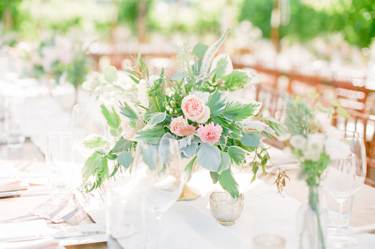 Blush Pink Rose Wedding centerpieces