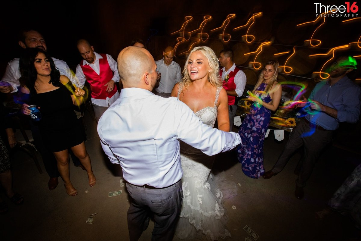 Peltzer Winery Wedding Venue Photography Temecula California Bride and Groom Dance Floor