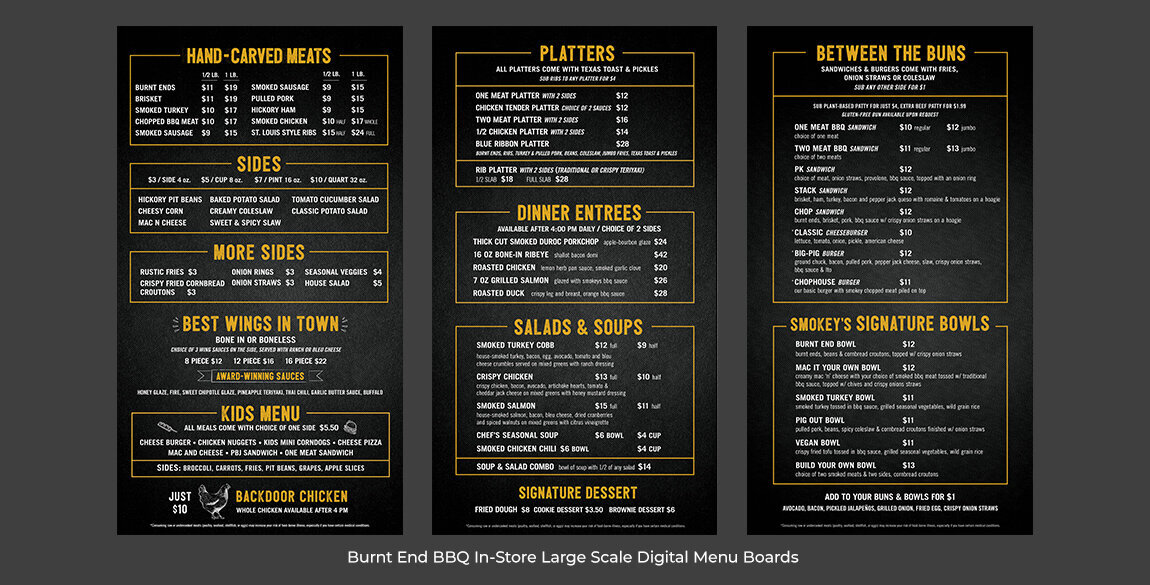 Burnt End Menu Boards
