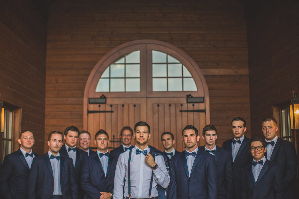 groom with all his groomsmen