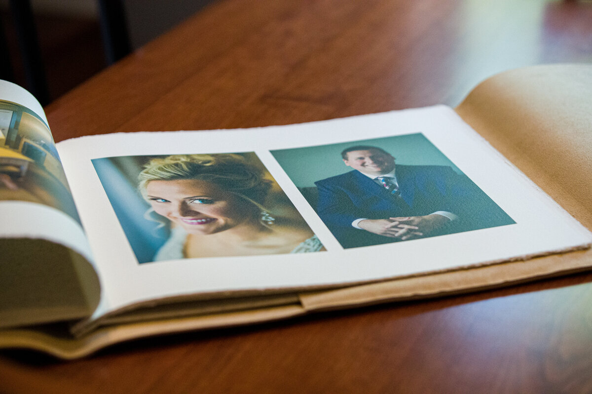 Handmade in Italy wedding album