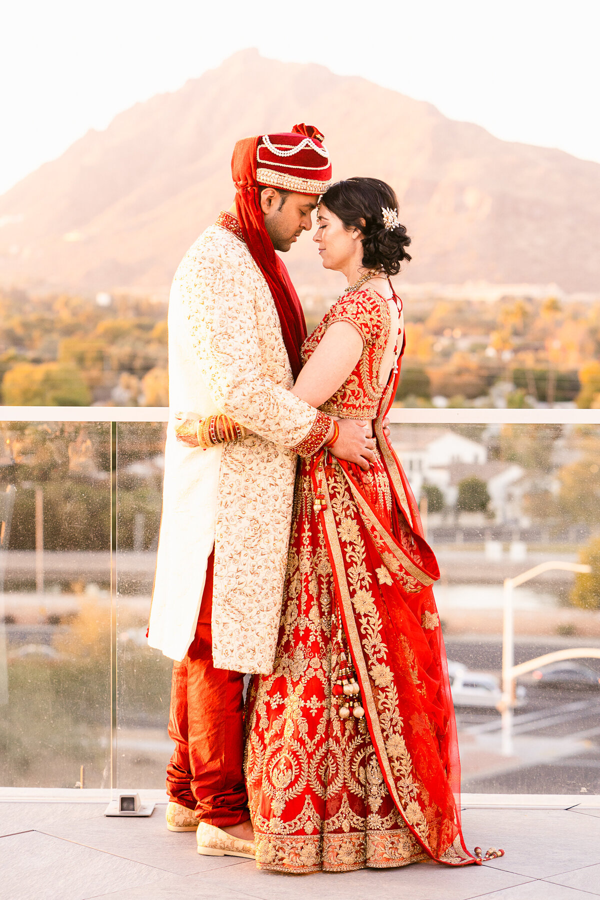 Hindu Wedding In Phoenix Arizona At Hotel Valley Ho - Phoenix Wedding Photographer - Atlas Rose Photography AZ04