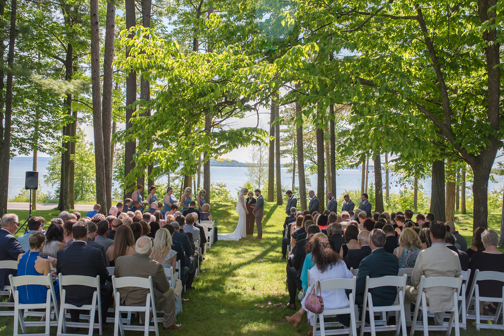 DESTINATION WEDDING IN TRAVERSE CITY WITH KRISTEN AND SCOTT Wedding Ceremony