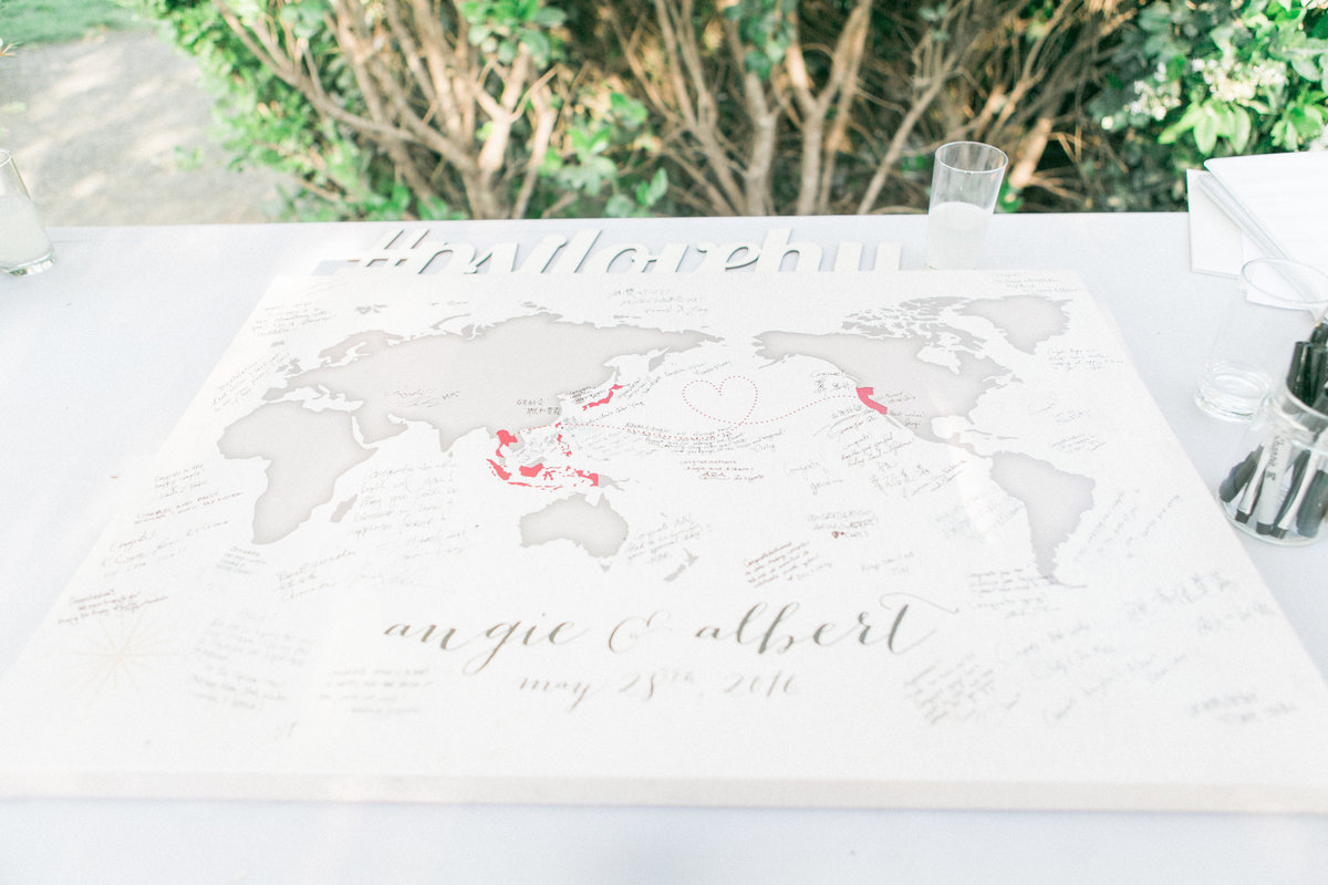 Wedding Guest World Map