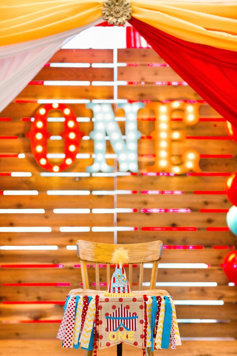 Circus Themed 1st Birthday Indianapolis Party Planner_0125