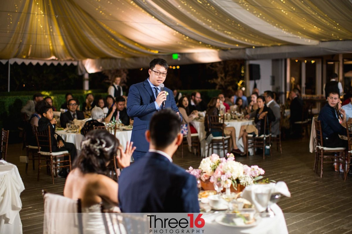 Married couple receives a Best Man Toast