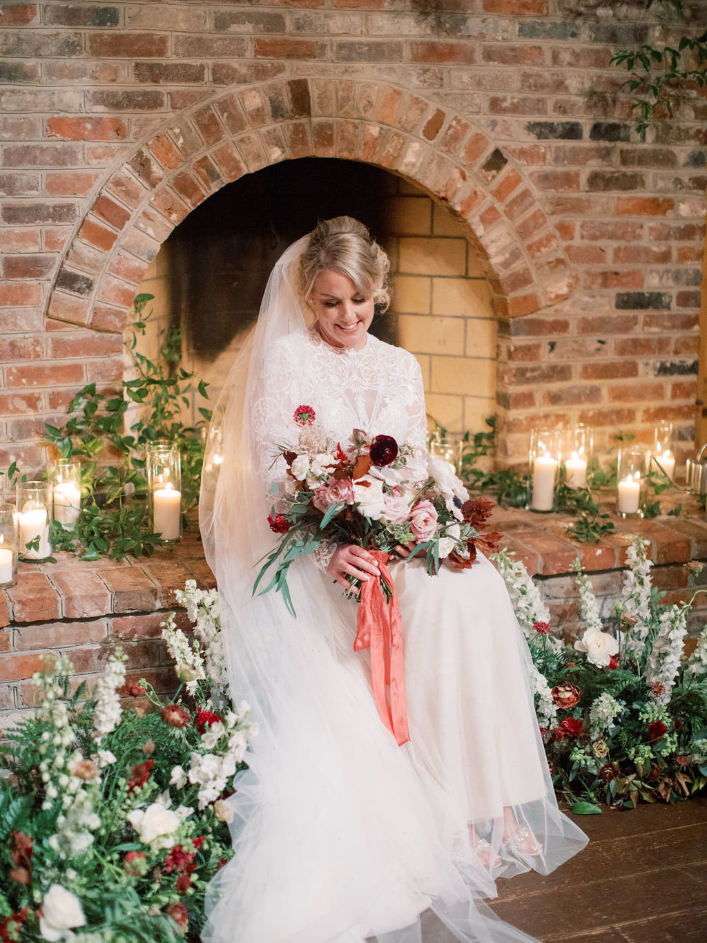 Fall bride Philadelphia wedding florist