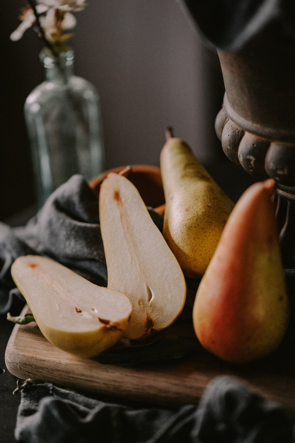 Pears. Creative food photographer yorkshire