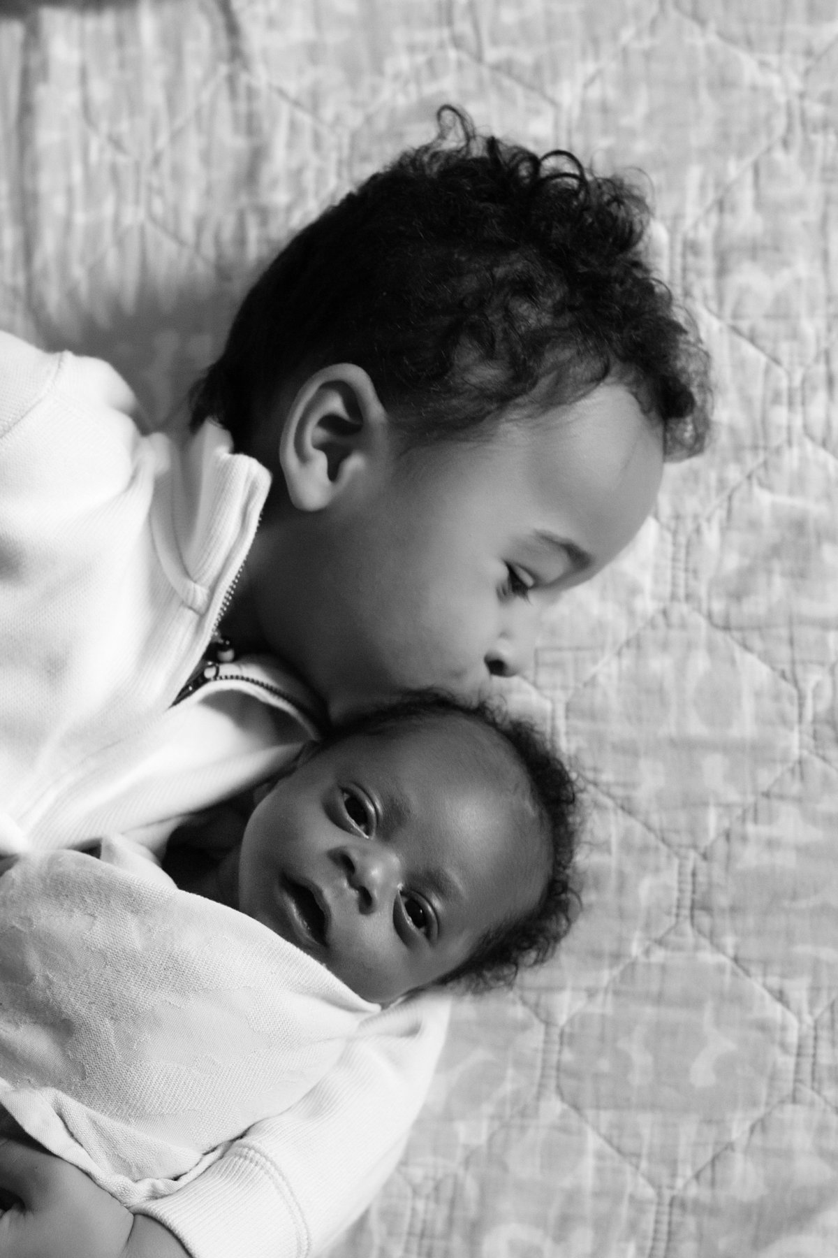 Sibling Newborn Photography Pose