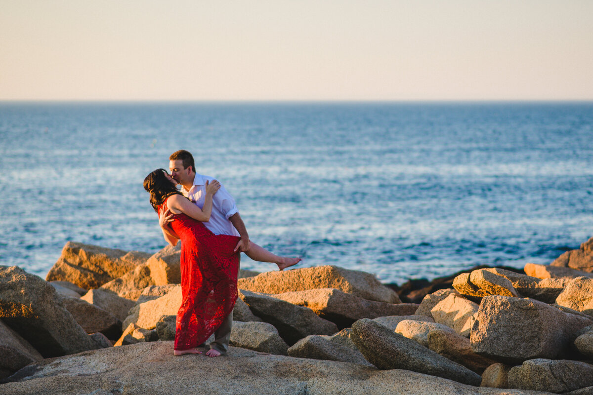 Sunset engagement session in Rockport