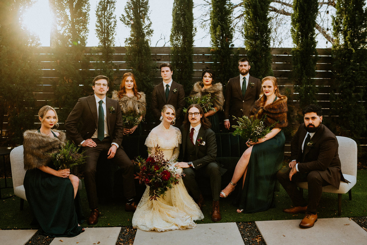 bridal party portrait one eleven east