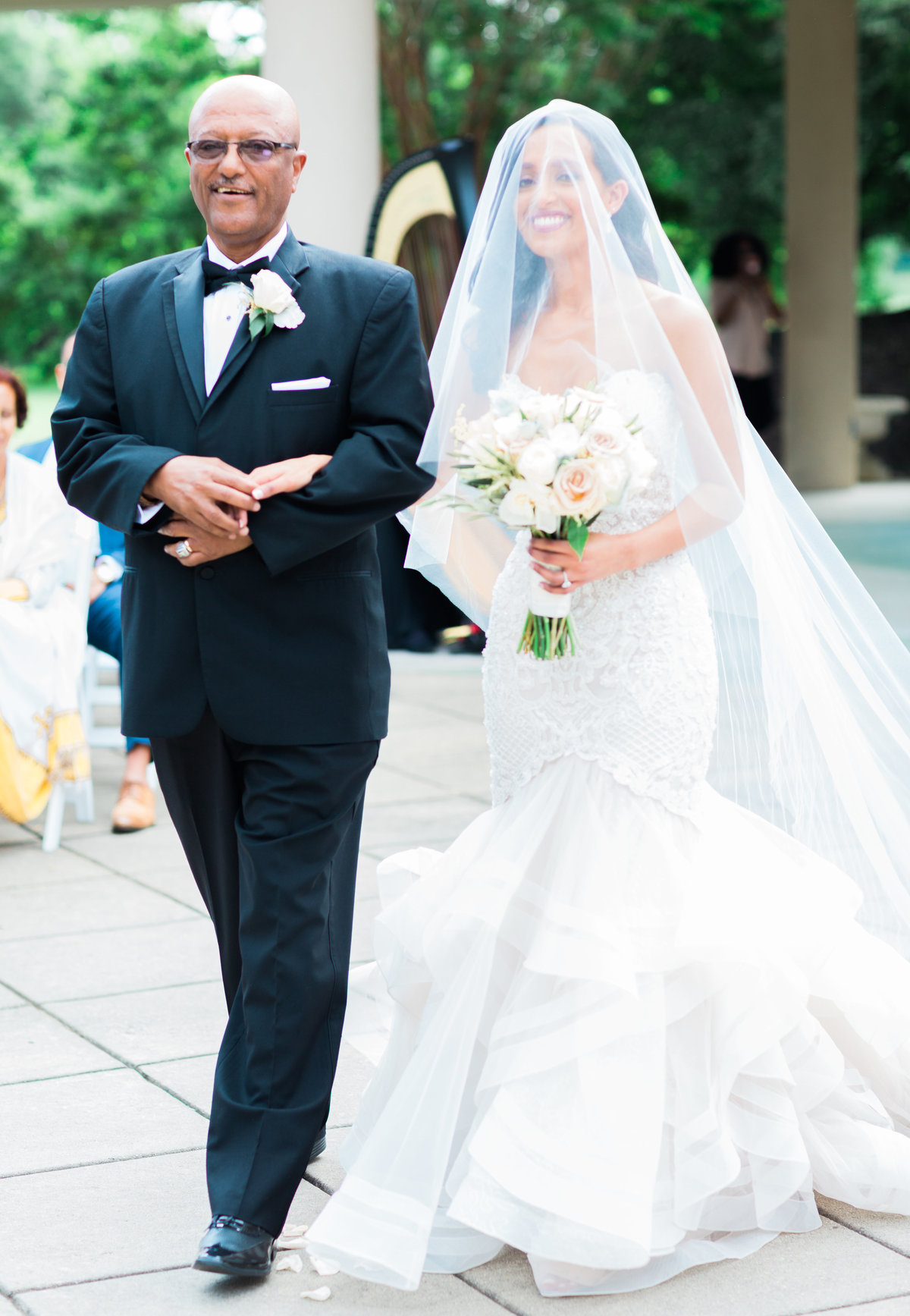 Bride + Father at Ceremony