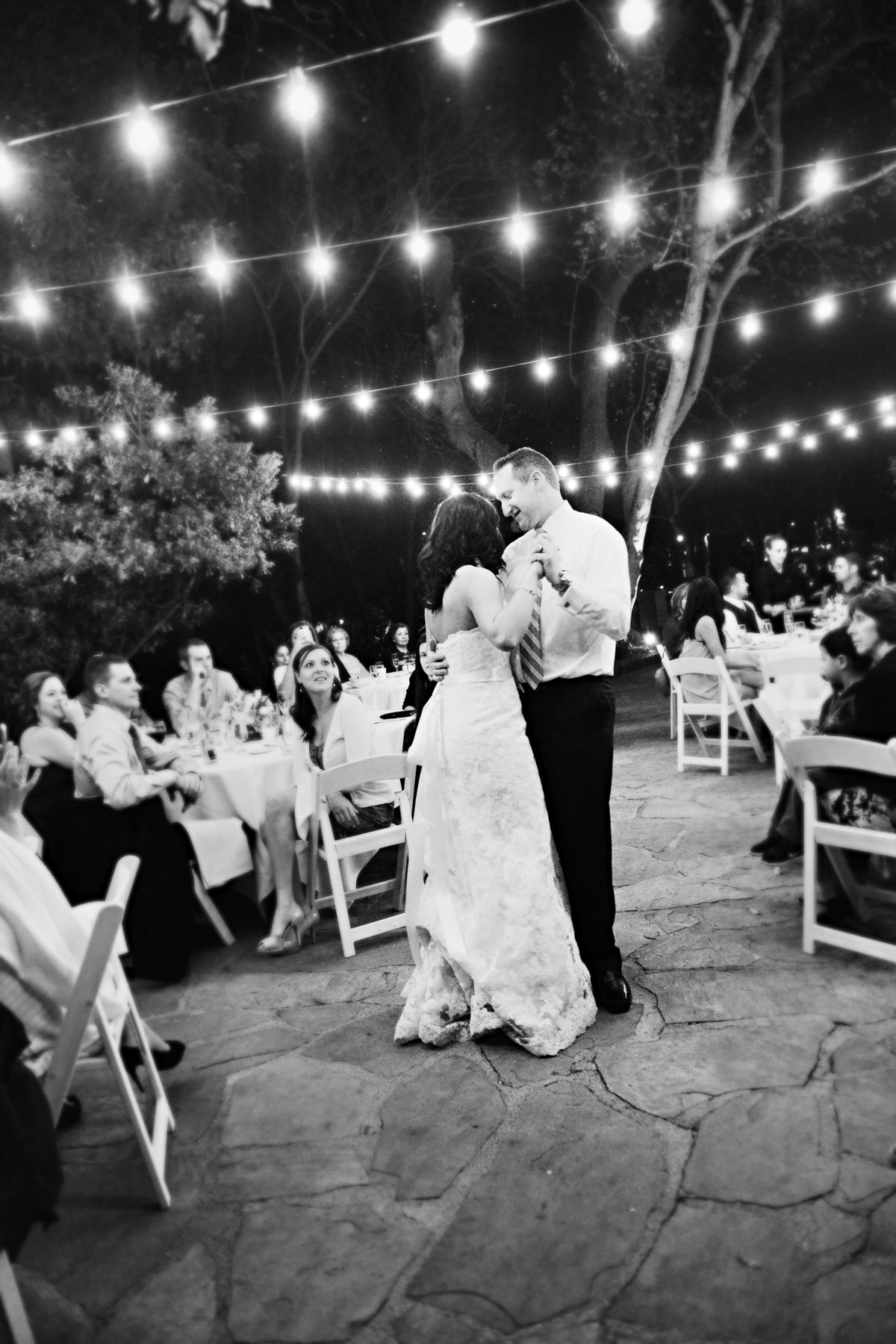 bride and groom during first wedding dance Sedona, Arizona