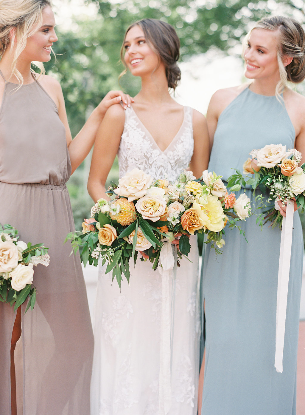 bride-and-bridesmaids-dresses