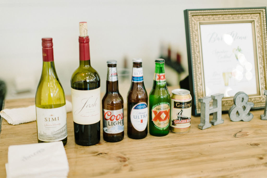 Alcohol for Wedding reception / Tyler Rosenthal Photography
