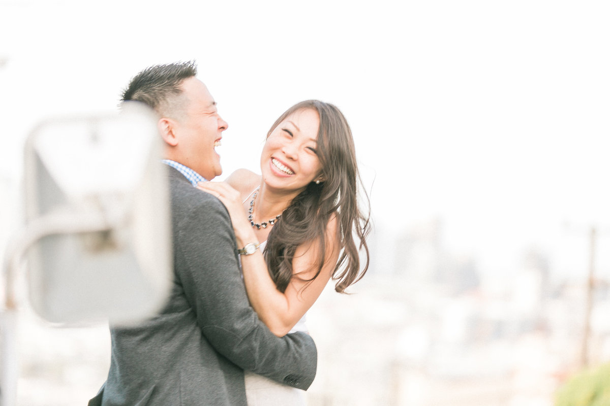 Candid SF Engagement Portraits