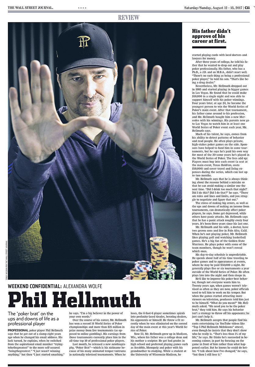 Phil Hellmuth.WSJ Article