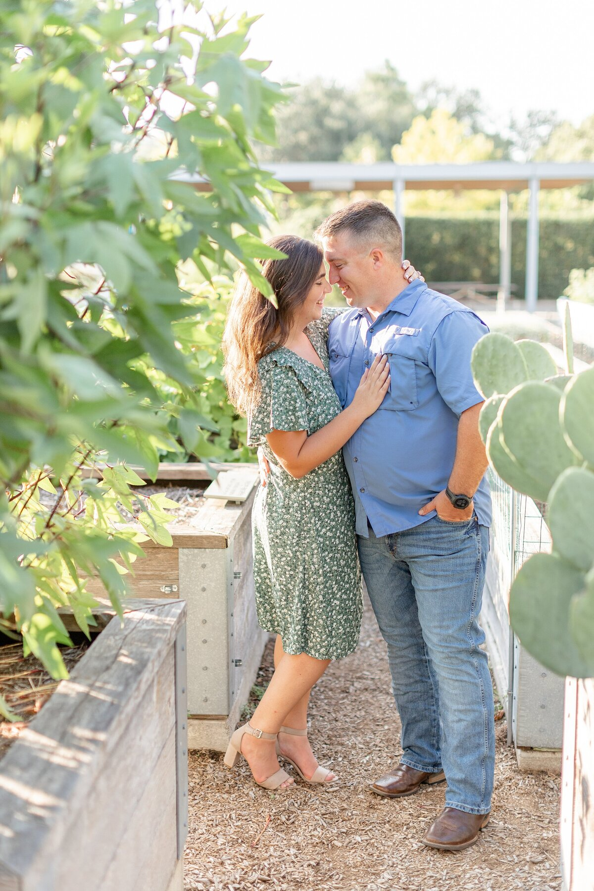 McGovern Centennial Gardens Engagement Photography Bright Airy Cozy