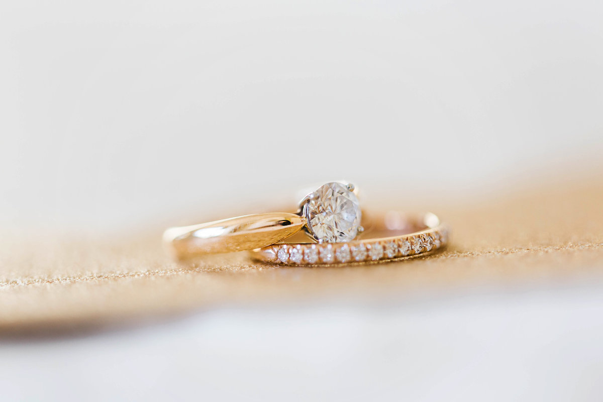 wedding rings detail photo