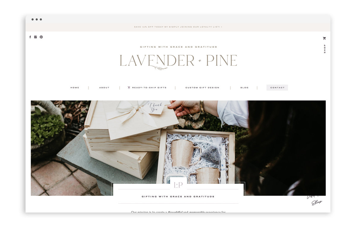 Lavender and Pine - Formerly Blush Events - Custom Brand and Showit Web Design by With Grace and Gold - Showit Theme, Showit Themes, Showit Template, Showit Templates, Showit Design, Showit Designer - 0