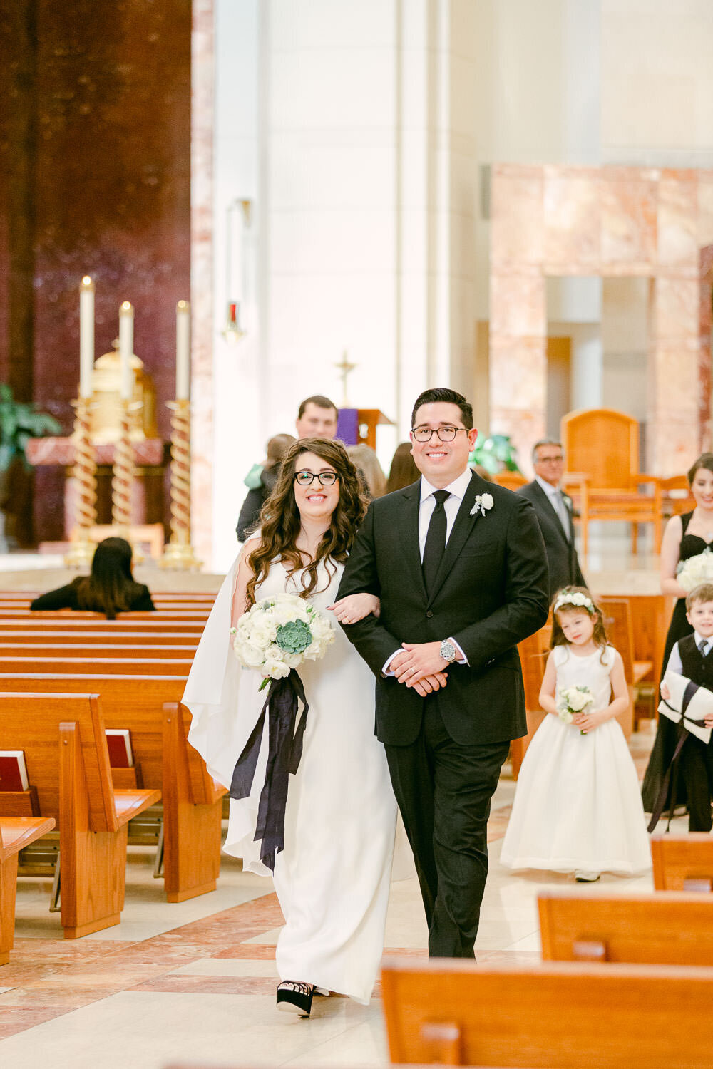Cathedral of the Sacred Heart Houston, Texas Wedding recessional