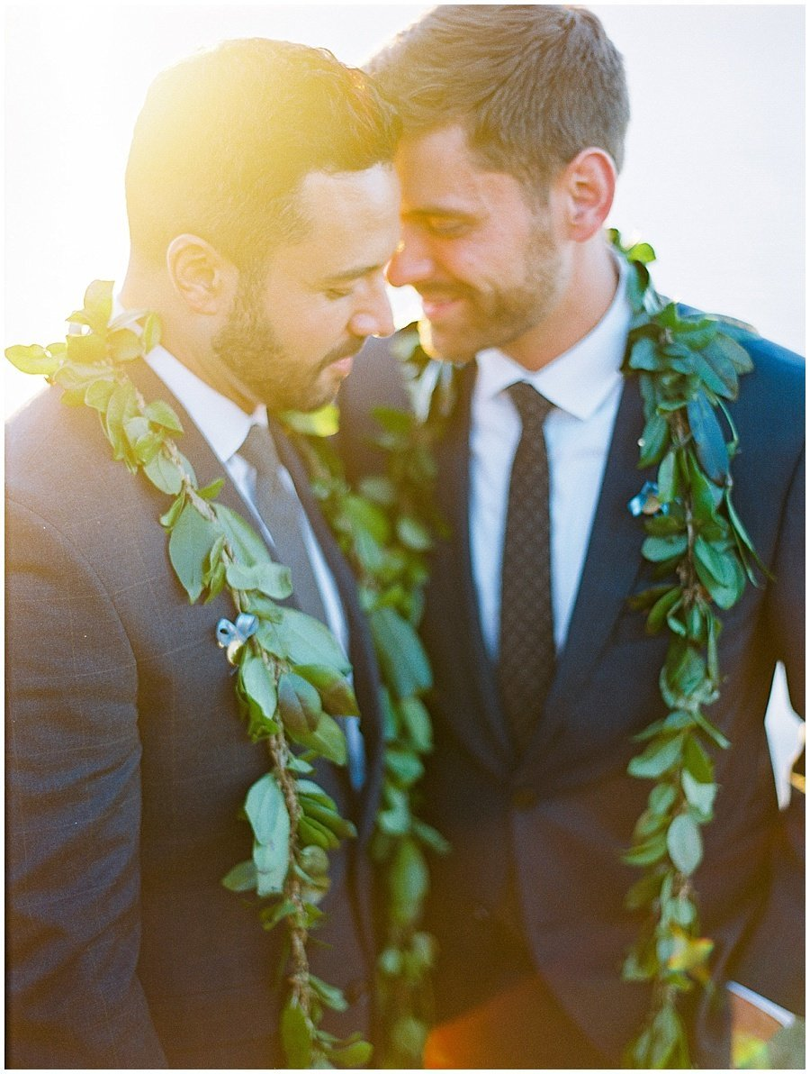Hawaiian Lei at wedding