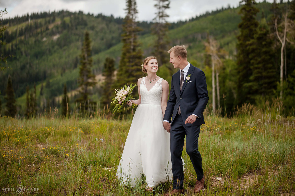 Colorado Mountain Wedding Photographer at Steamboat Springs Resort