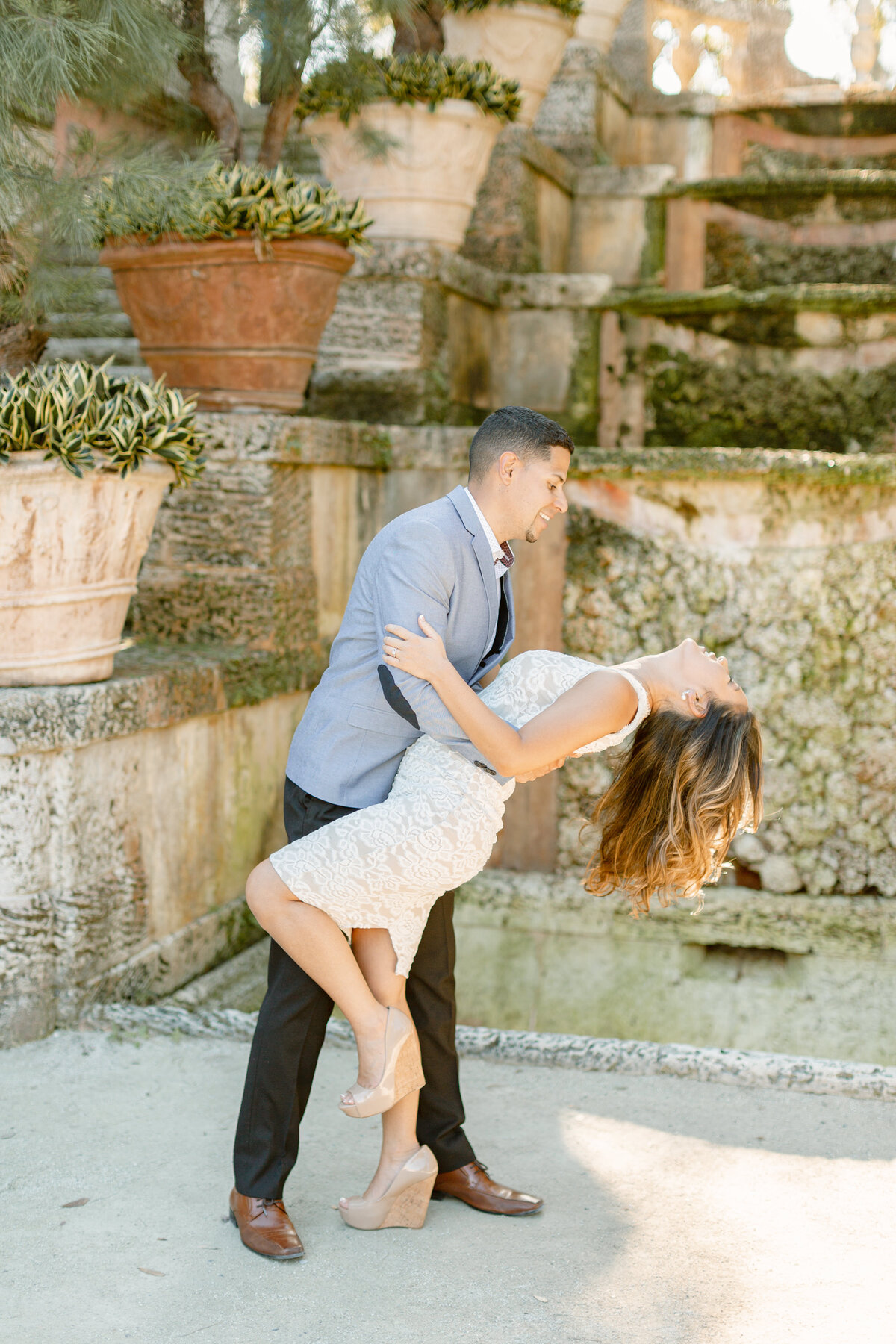 Vizcaya Museum Engagement Photography Session 16