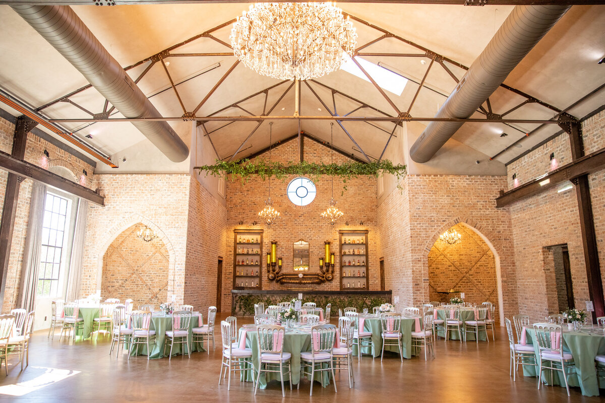 Rustic Industrial Venue Reception Space in Montgomery, TX