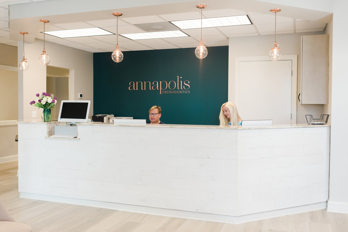 Orthodontic Office Reception Desk | Annapolis Orthodontics Annapolis, MD
