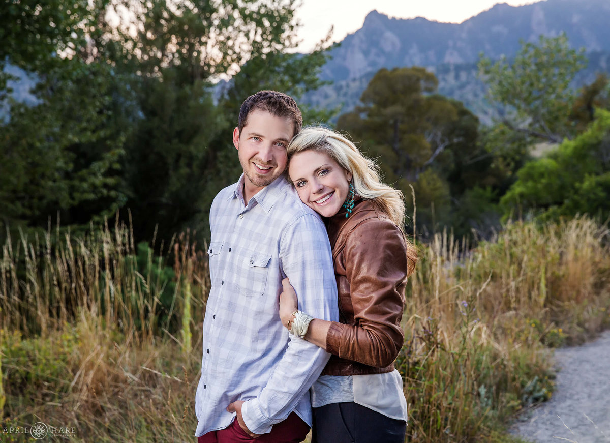 Couples portrait at Colorado Family Photography Session at South Mesa Trail