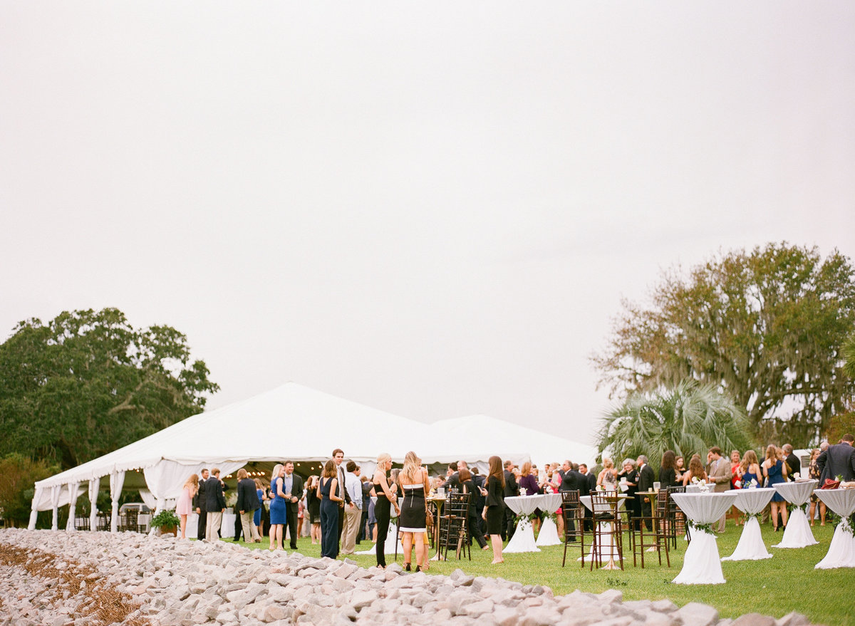 Private Waterfront Home Tented Wedding Reception
