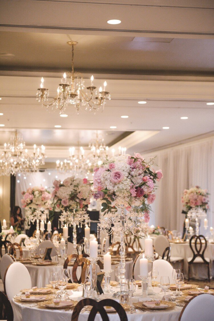 blush-gold-wedding-reception-centrepiece-flowers-candelabra