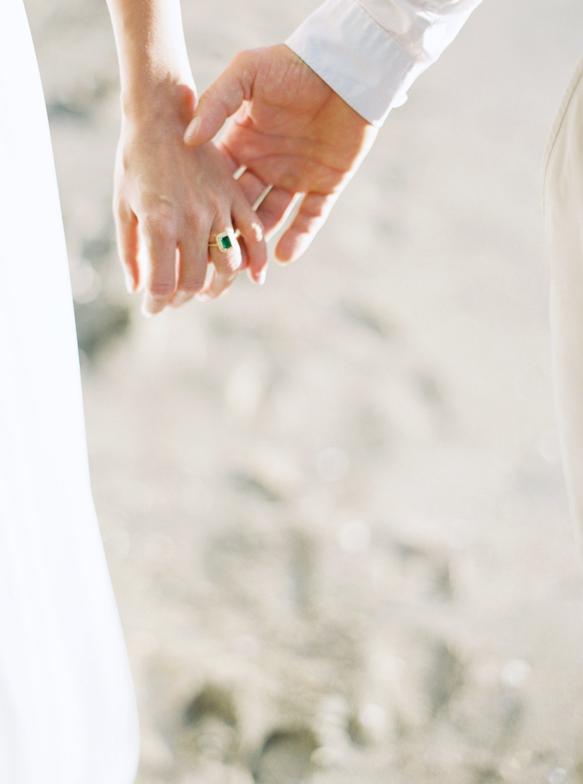 bride and groom holding hands in costa rica_Sierra Ashleigh Photograph