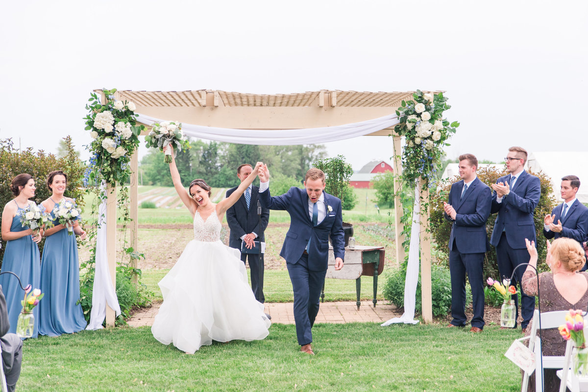 heritage prairie farm wedding ceremony