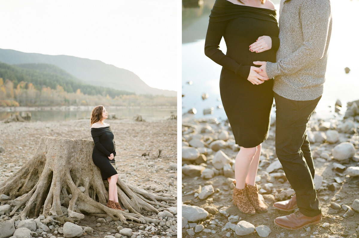 Seattle Maternity Photographer - Film Photography - Fine Art - Rattlesnake Lake - 1
