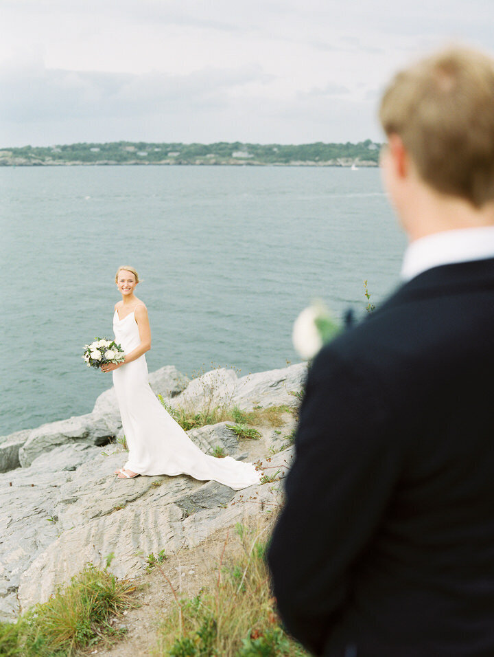 romantic couple pics at castle hill inn wedding in Newport in rhode island