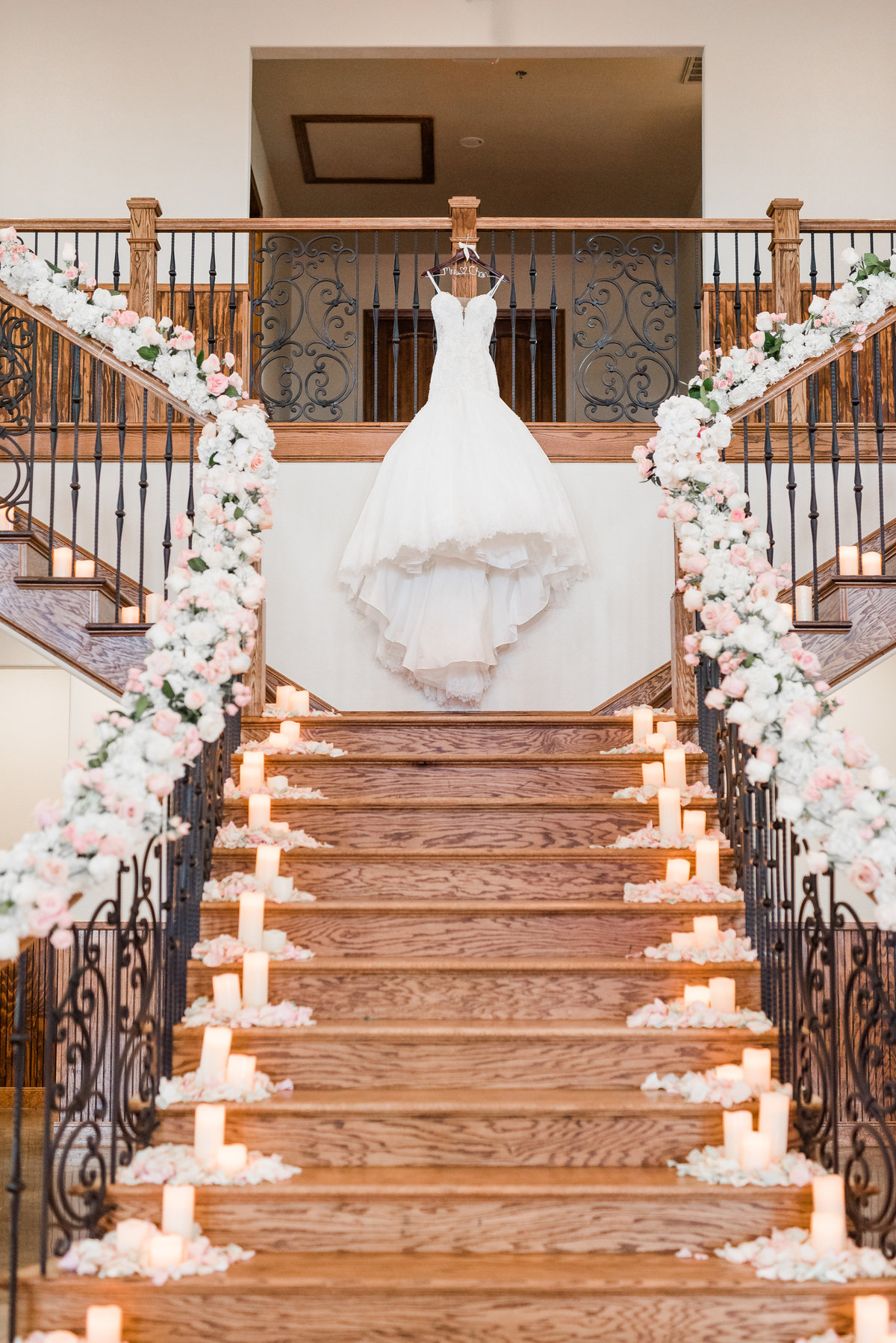 Dress on Stairs at Springs Venue Anna