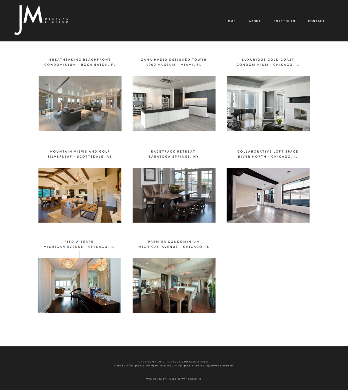 Interior designer website by Tribble Design Co.