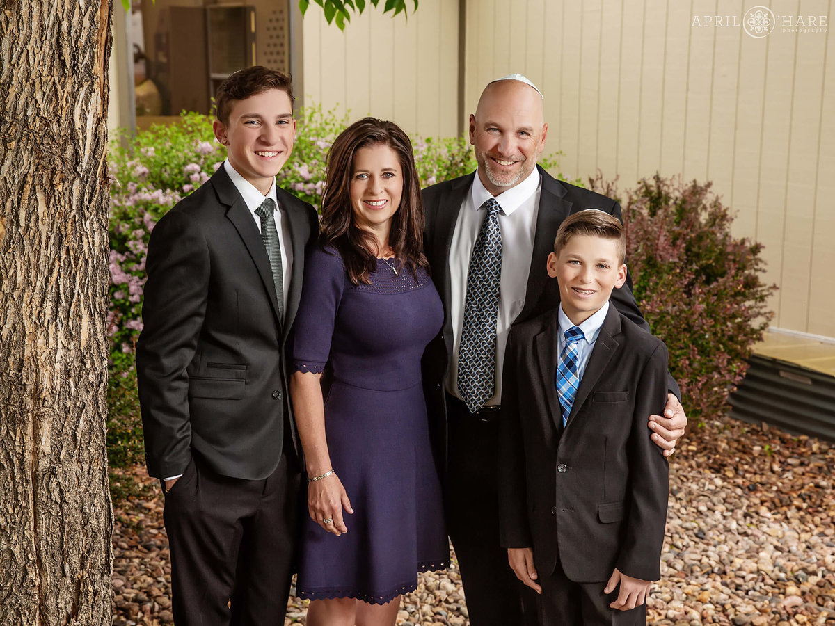 Formal Family photos at B'Nai Chaim Bar Mitzvah in Lakewood Colorado