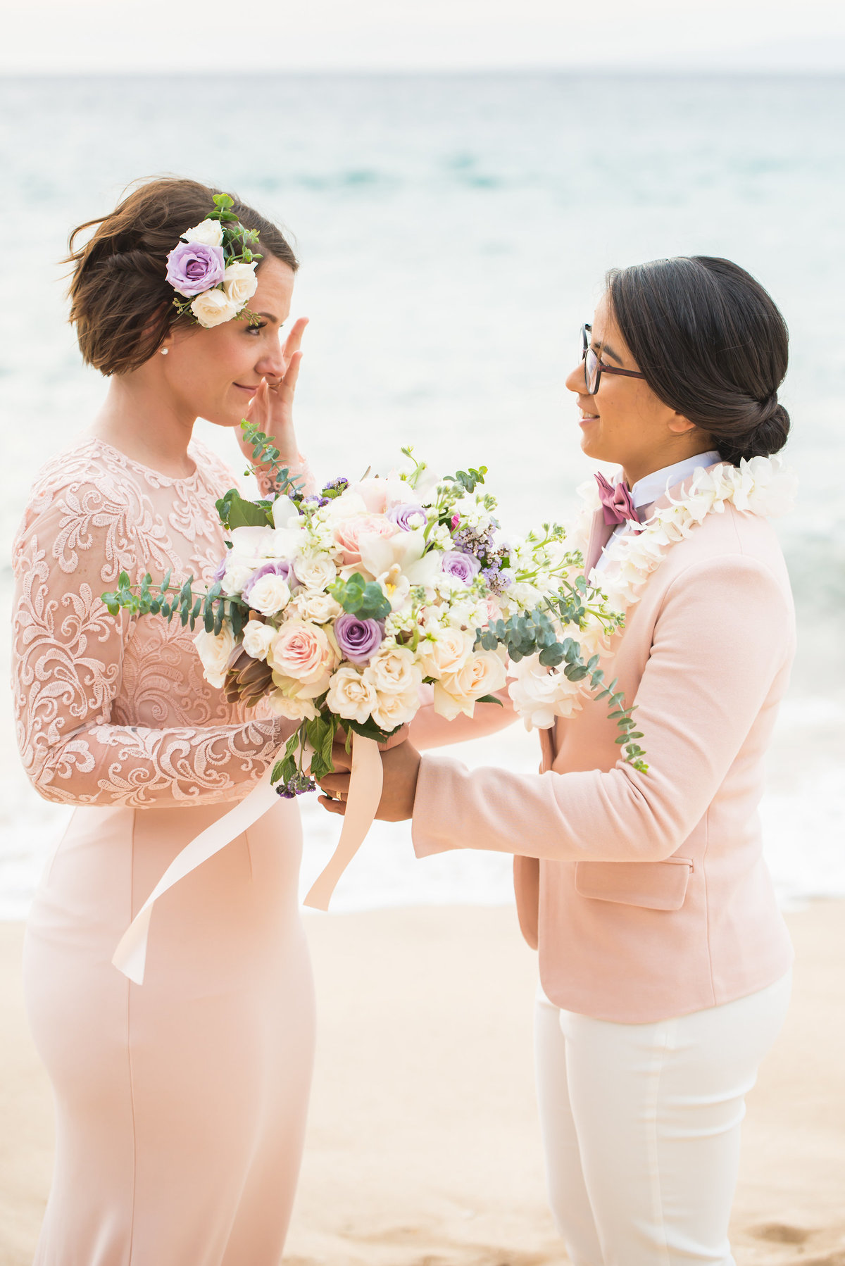 Same sex Maui wedding photography