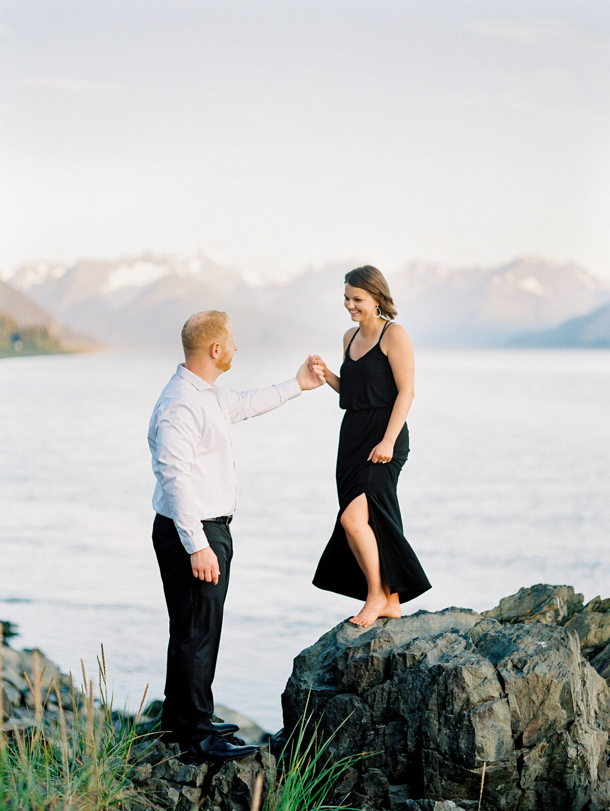 Turnagain Arm engagement photoshoot