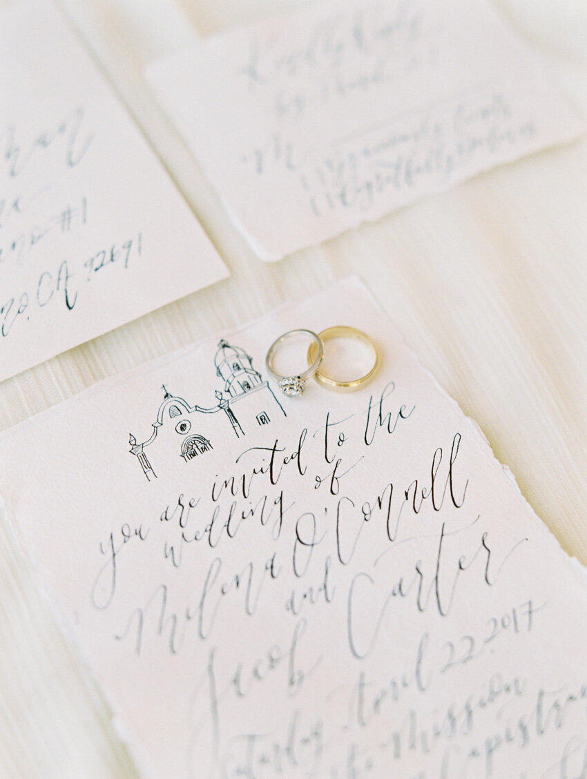 pirouettepaper.com | Wedding Stationery, Signage and Invitations | Pirouette Paper Company | Mission San Juan Capistrano Wedding Inspiration | Mallory Dawn Photography  (15)