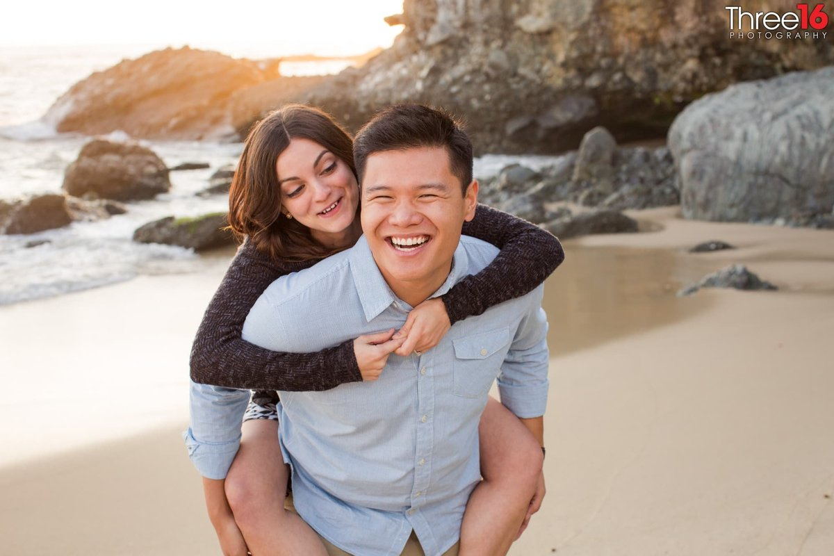 1000 Steps Beach in Laguna Beach Engagement Photography Orange County